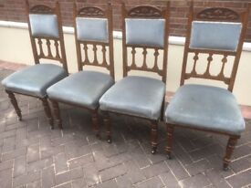 Four Antique Dining Chairs