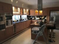 Very large Applewood kitchen and utility room for sale which would do two average size kitchens.