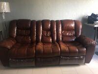 sofa 3 piece and reclining Glasgow