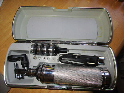 Vtg Riester Otoscope Ophthalmoscope Medical Diagnostic Instrument Set Germany