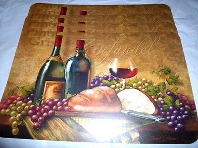 LOT 4 PIECE WINE GRAPES THEME PINOT GRIGIO ZINFANDEL PLACEMATS NWT