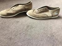 Brown Lacoste shoes size 4