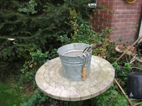 Fire Bucket, In very good condition metal silver