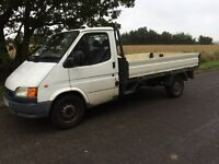 FORD TRANSIT DROPSIDE SPARES OR REPAIR DRIVES REALLY WELL MOT FAILURE !!