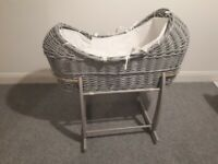 Sold Pending Collection - Moses Basket Grey & White Rocker (North Belfast)