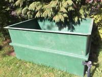 Fibre glass pond vat
