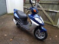 Sym shark 125 4v. V fast scooter. Immaculate condition. 5000 miles only. New mot. £495 xmas bargain.
