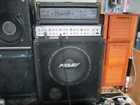 peavey bass amp and cab