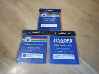 3 X Jessop Filters for Cokin P series filter system. 81A 3400-3200K, 80A 3200K-Daylight, BW1 Yellow