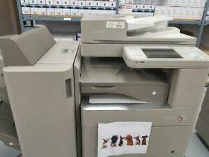 Pre-owned Canon imagerunner ADVANCE C5035 IRA C5035 Color Copier Printer Scanner External Finisher 11x17 with 46 IPM.