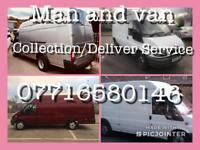 Collection /Delivery service man with vans/trailers