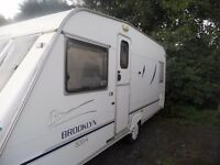 4 BERTH CARAVAN FIXED BED WITH AWNING AND LOADS OF EXTRAS 2000 ABI BROOKLYN
