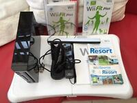 Wii (black) and Wii Fit