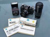 Classic SLR Minolta 9000 35mm SLR Camera
