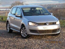 2010 MODEL 59 REG VW POLO 1.2 SE 60 BHP, SILVER, AIR CON, MOT JAN 19
