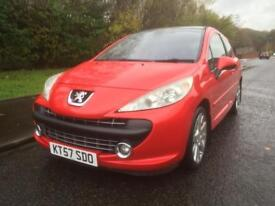 PEUGEOT 207 GT 1.6 TURBO , 3 DOOR , MOT OCTOBER 2018 , LOW MILES , SERVICE HISTORY