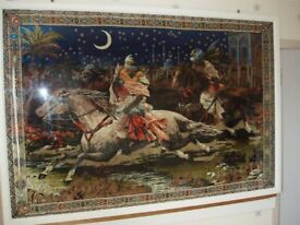Large framed Asian Style Tapestry
