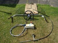 AVON S250 SPORTSBOAT STEERING MECHANISM, THROTTLE AND GEAR CONTROLS FOR SALE. (BOAT NOT INCLUDED)
