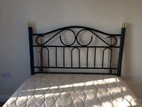 Double Divan Bed with metal head board - excellent condition