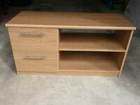 Oak veneer TV and Video Cabinet