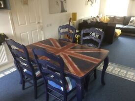 Gl Dining Table With Four Matching Chairs In Quedgeley