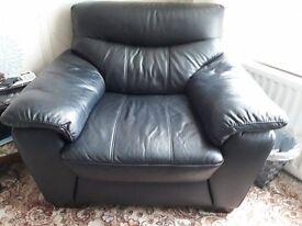Harveys Black comfy leather chair