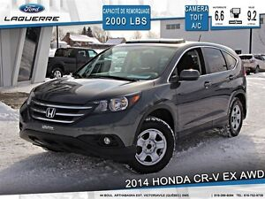 2014 Honda CR-V **EX*AWD*HITCH*TOIT*CAMERA*CRUISE*A/C 2 ZONES**