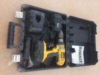 DeWalt hammer drill, charger and case
