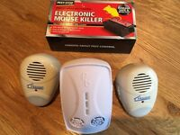 Electronic Mouse Trap & 3 Plug-in Ultrasonic Scarers