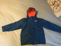 Blue and orange northface age 6 with seperate inside