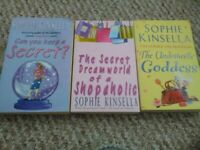 Sophie Kinsella books X3 Secret Dreamworld of Shopaholic + Undomestic Goddess + Can you Keep Secret?