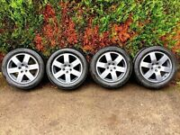 **RE-FURBED** VOLKSWAGEN VW BEETLE RONAL HOUSTON ALLOYS 205/55/16 TYRES GREY BEETLE GOLF 100 X 5