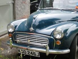 morris minor 4 door saloon 1972 blue