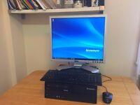 ***Full Set***Lenova intel 3.0Ghz / 4GB / 320GB / Win 10 / Office + Dell Monitor Desktop PC Computer