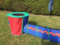 Children's play tunnel and tent