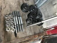 114.75kg Iron Weights Bench bar Dumbbell bars