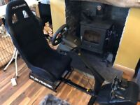 Gaming chair with steering wheel/pedals for racing games