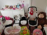 Vannici 3 in 1 car seat,pram and buggy