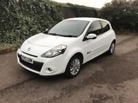 Renault clio 1.2 I music-petrol - white 12 reg low miles 60k - low insurance - part exchange welcome