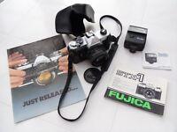 FUJICA STX-1 SLR Camera with X-Fujinon 1:2.2 55mm Lens