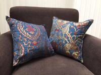 Blue Moroccan cushion covers