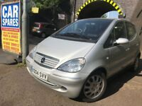 Mercedes A Class a170 2004 1.7 Diesel silver 5dr breaking for spares