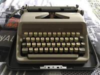 Adler Type E Typewriter (with casing)