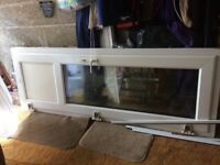 Glass conservatory door with frame and window