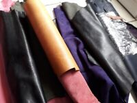 FREE - Assorted leather pieces