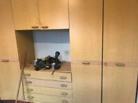 wardrobes and chest of drows free to the collector in good condition as house clearance in wilde gre