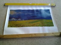 Van gough wheatfields under thunder clouds print