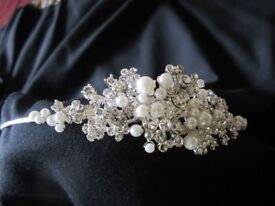 Diamante and Pearl Tiara