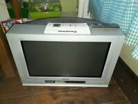 FREE - 28 inch Panasonic television & Stand - Flatscreen but older larger CRT type, not LCD - FREE