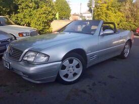 1998 'S' REG MERCERDES BENZ SL320 V6, FACELIFT MODEL, FULL SERVICE HISTORY, HPI CLEAR, HARD-TOP